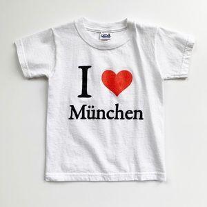 I ❤️ Munich Tee Size XS 4/5 EUC